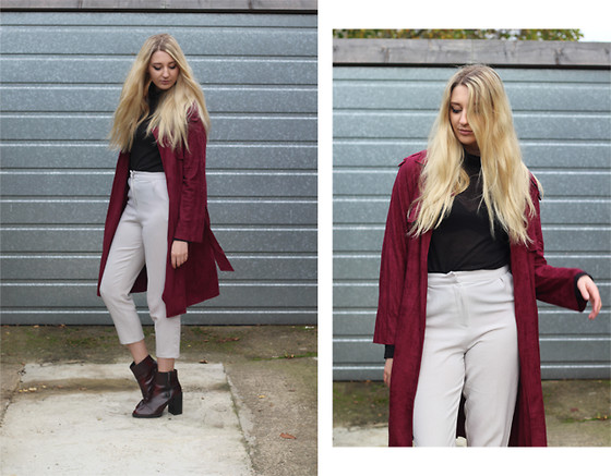 Laura Rogan - Rare London Trench, Missguided Trousers, Zara Boots - The Suede Trench