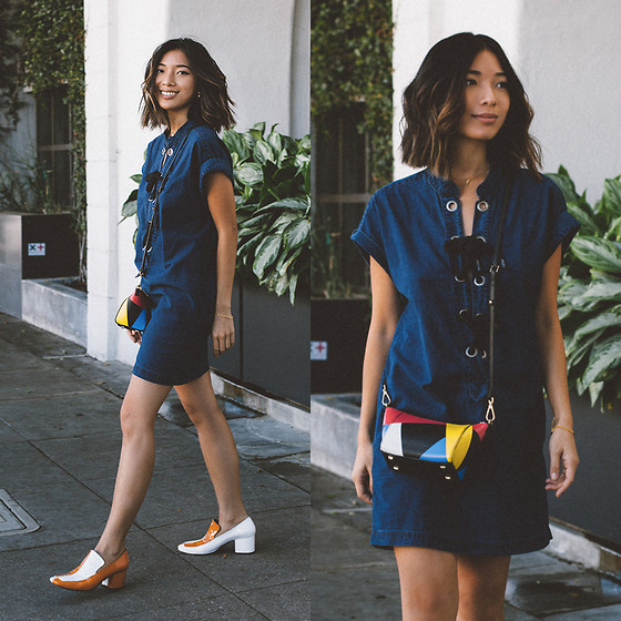 Stephanie Liu - Courtshop Dress, Flynn Bag, Dorateymur Loafers - Colorblock Accents