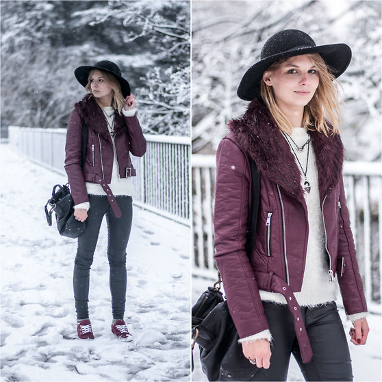 Ruth Pie - Forever 21 Leather Jacket, Liebeskind Berlin Pavla, Vans - Hey-Oh Snow