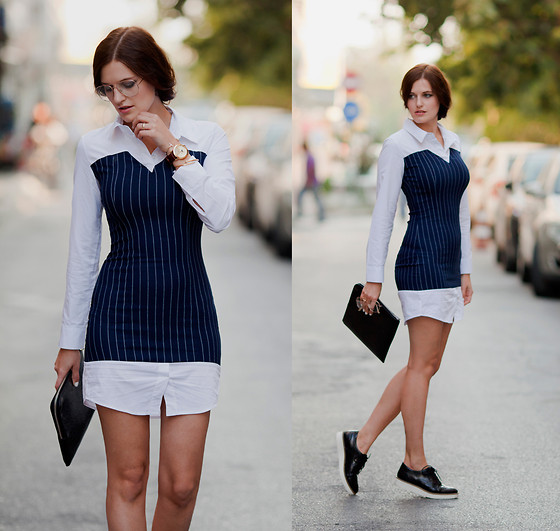 Viktoriya Sener - Zerouv Glasse, Style Moi Dress, Filippo Loreti Watch, Asos Brogues, Velvet Caviar Bracelets - BUSY DAYS