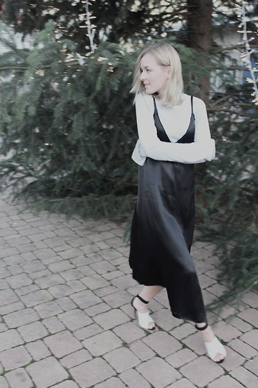 Anna Borisovna - Mango Slip Dress, Zara Heels - Slip Dress