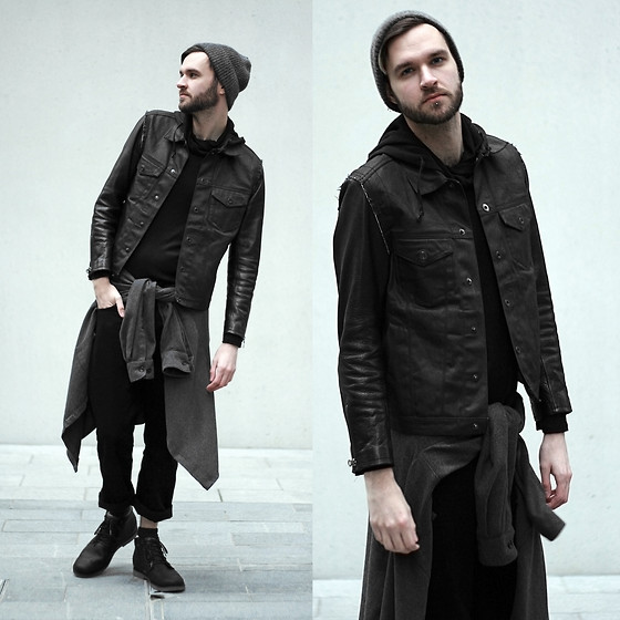 Geraint Donovan-Bowen - H&M Hat, Gap Jacket, Cndirect Top, East End Thrift Store Shirt, Topman Jeans, Teva Boots - His Name Is Darkness