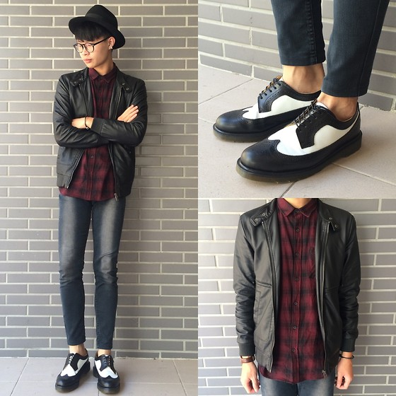 Anan Chien - Asos Hat, Forever 21 Shirt, Forever 21 Jacket, Cheap Monday Skinny Jeans, Dr. Martens Shoes - Blue monday