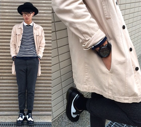 Anan Chien - Tastemaker 達新美 Jacket, Uniqlo Top, Fossil Watch, Dr. Martens Shoes - Yesterday