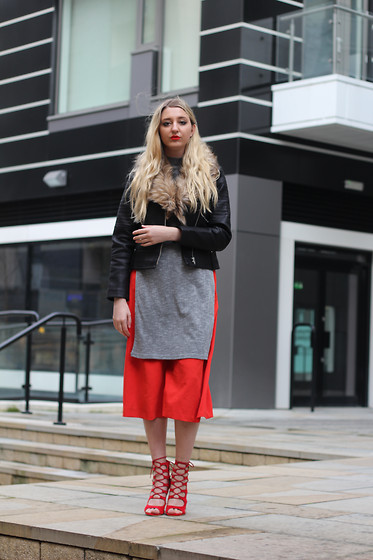 Laura Rogan - Debenhams Jacket, House Of Fraser Top, F&F Culottes, Ego Shoes - The Leather Jacket + WIN!