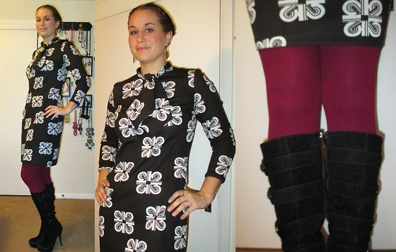 Erin Solberg -  - Vintage Dress and Tights