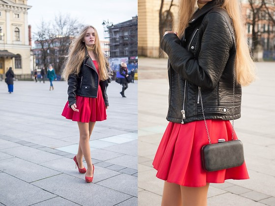 Paint it blonde - Dagnez Red Dres - Red and gold