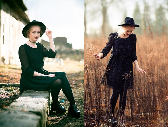 Agnieszka Warcaba - H&M Hat, Atmosphere Top, House Skirt, H&M Boots - Lace dress