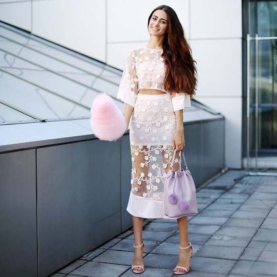 Tina Sizonova - Grafea Bag, Senso Heels - Cotton Candy