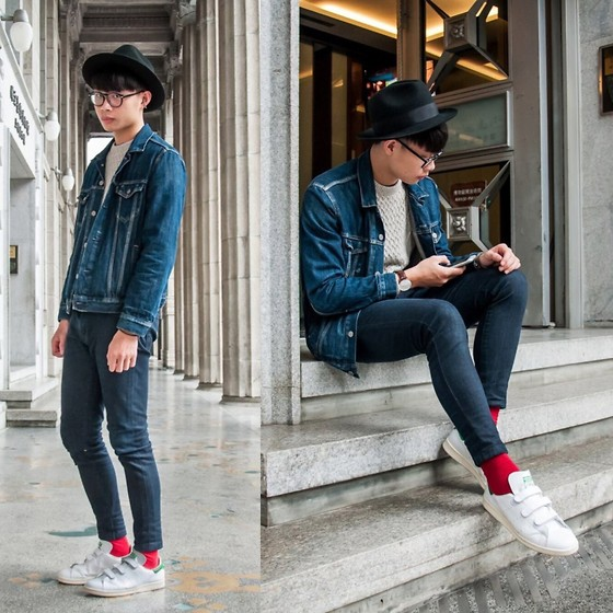 Anan Chien - Asos Hat, Levi's® Jacket, Daniel Wellington Watch, Uniqlo Skinny Jeans, Adidas Stan Smith - 2016 first
