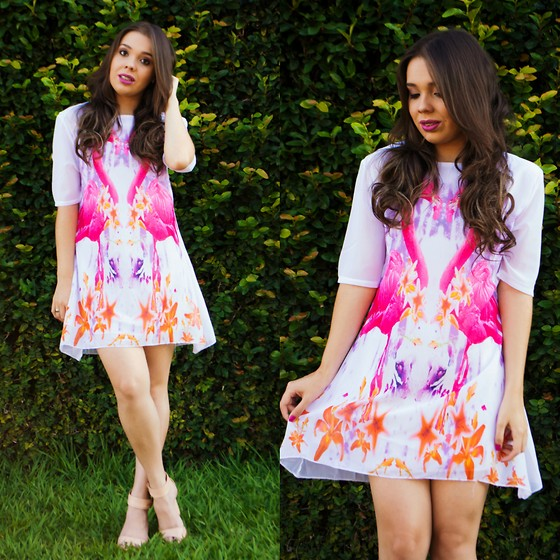 Priscila Figueredo - Fashionmia Dress Print Flamingo - Flamingo Dress;
