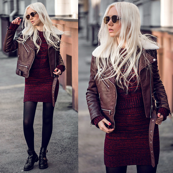 Oksana Orehhova - Sammydress Set, Zerouv Sunglasses - WARM IN BURGUNDY