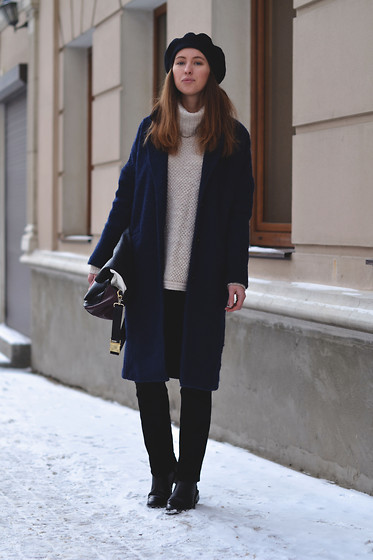 Olga Dupakova - Lindex Sweater, Reserved Coat, Mango Boots - New post!