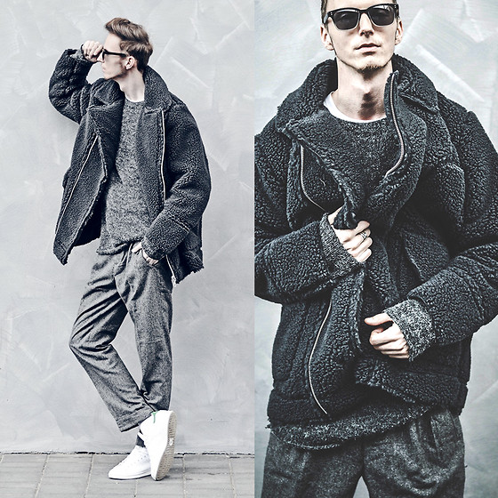 Chaby H. - H&M Fur, Wool Pants, Adidas Stan Smith - Fluffy bear