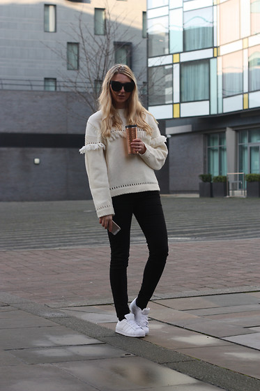 Laura Rogan - Adidas Trainers, River Island Jeans, Joy Sweater - Creature Comforts