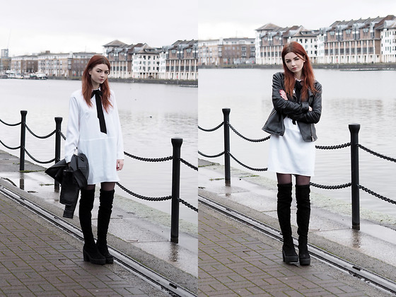 Hannah Louise -  - White Shirt Dress