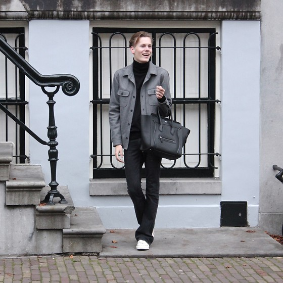 Martijn Maagdenberg - Tom Ford Turtleneck, Mauro Grifoni Jacket, J Brand Flared Jeans, Converse Sneakers, Céline Bag - Untitled #37