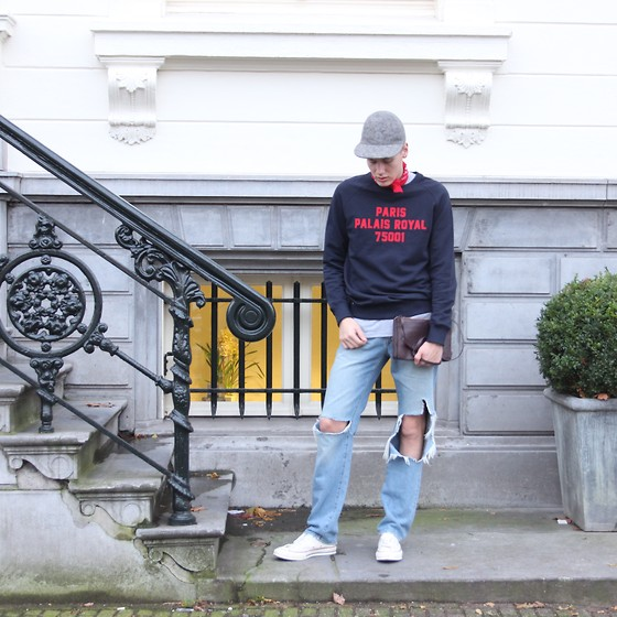 Martijn Maagdenberg - Balzac Projects Sweater, Balzac Projects T Shirt, Stella Mccartney Cap, River Island Ripped Jeans, Converse Sneakers, Céline Bag - Untitled #38