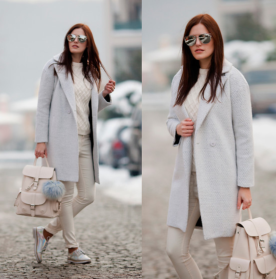 Viktoriya Sener - Light In The Box Coat, Zara Sweater, H&M Jeans, Mango Backpack, Chic Wish Brogues, Dresslink Sunnies - CRYSTAL