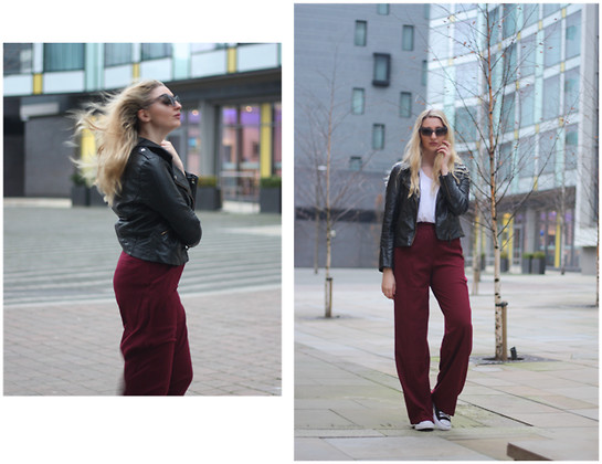 Laura Rogan - Sheinside Jacket, Missguided Tshirt, Asos Trousers, Cloggs Converse - Return of the Chuck