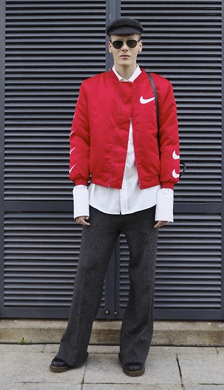 Martijn Maagdenberg - Nike Bomber Jacket, Saint Laurent Shirt, Zara Wide Pants, Dr. Martens Boots, Isabel Marant Evie Hat, Christian Dior Technologic Sunglasses - Untitled #40