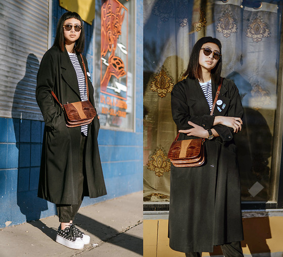 Alyssa Lau - Kowtow Striped T Shirt, Priory Wen Pant, Berg & Betts Sustainable Watch, Pins - Hi-Fi(Ve)