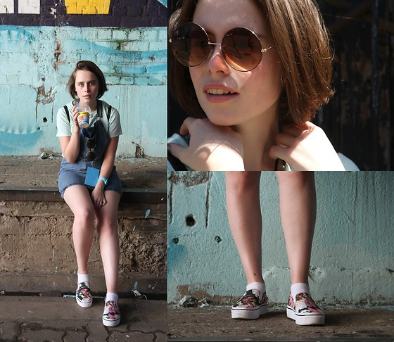 Jemma Richmond - Mrp Sunglasses, H&M Platform Loafers, Cotton On Skirt Dungarees - NewTown