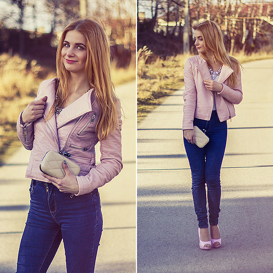 Charmeuse - Pink Leather Jacket - Www.charmeuse.pl
