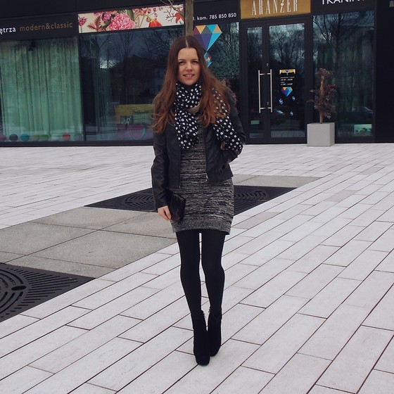 Lissey ♥ - Esmara Dress, Reserved Jacket, Oasap Boots - 50 shades of grey