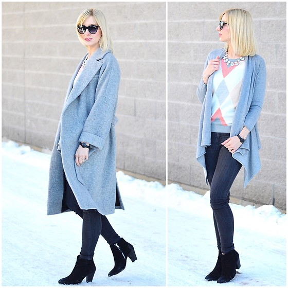 Tatiana M - Zara Coat, Zara Cardigan, Tommy Hilfiger Sweater, Cherrypick Necklace, Forever 21 Sunglasses, Zara Jeans, Asos Ankle Boots - Styling Neutrals