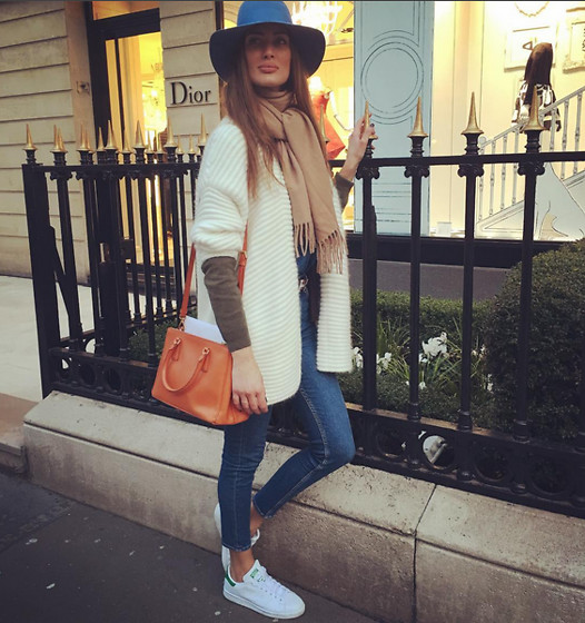 Amina Allam - Sandro Outfit, Prada Bag, Maison Michel Hat, Adidas Sneakers - About yesterday