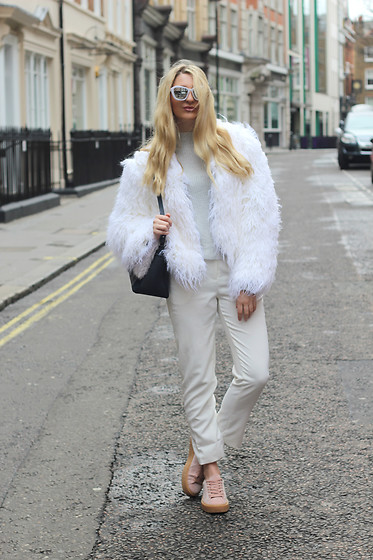 Laura Rogan - Le Specs Sunglasses, Primark Jacket, Missguided Sweater, Public Desire Trainers - London Fashion Week Day 3