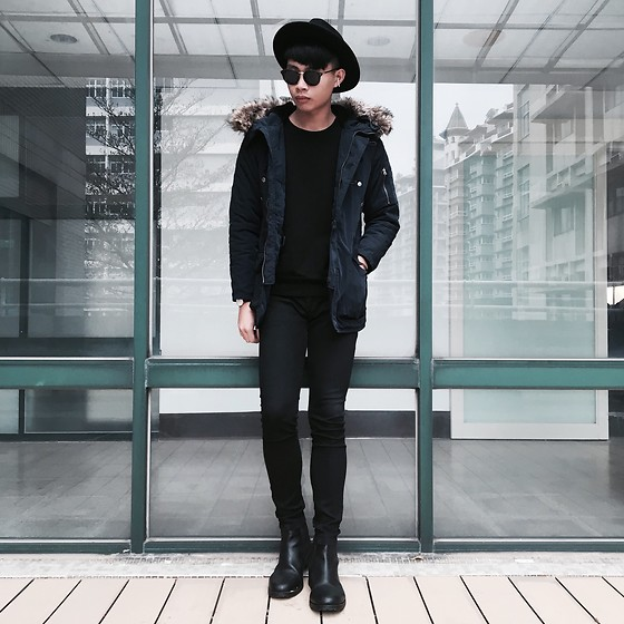 Anan Chien - Asos Hat, Mr.Ricco Tw Sunglasses, Gu N3b Jacket, Cheap Monday Skinny Jeans, Jack&Jones Shoes - Ootd