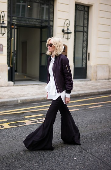 Lisa Rvd - Topshop, Zara - Wide Leg Pants
