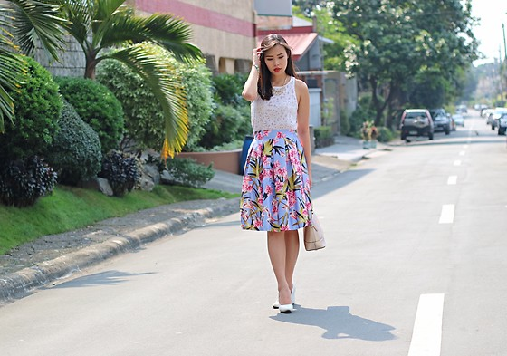 Jeanne Khe - Curtsy Floral Midi Skirt - ABV: A Beautiful Valentine
