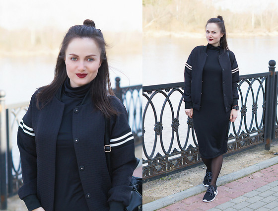 Ann Kos - Lovelywholesale Dress, Style Moi Jacket - BLACK