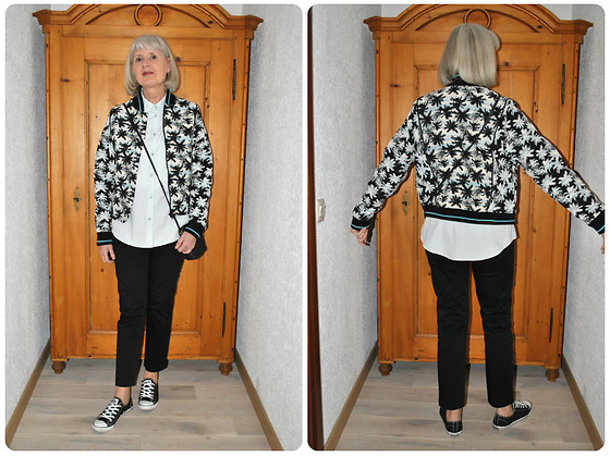 Reni E. -  - Bomber jacket with palm trees