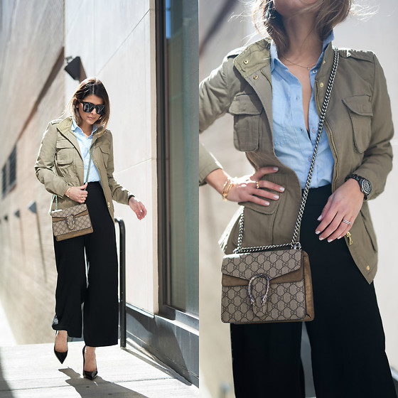 Pam Hetlinger - Gucci Bag - Cargo Jacket