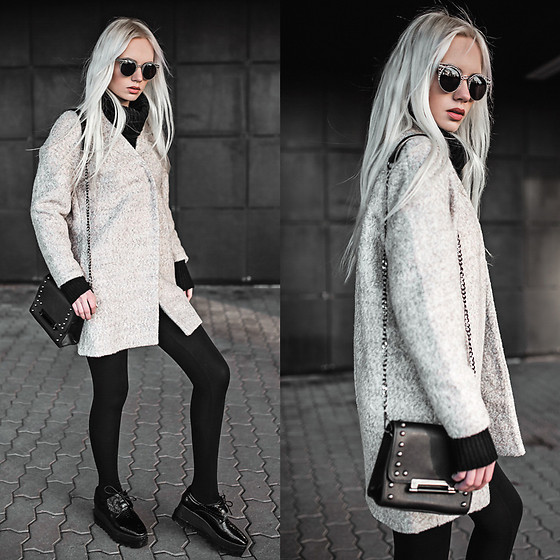 Oksana Orehhova - Aliexpress Coat, Zerouv Sunglasses, Oceanfashion Bag - CLOUDY