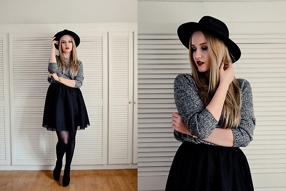 Agnieszka Warcaba - H&M Hat, H&M Sweater, Aliexpress Watch, House Skirt, H&M High Heels - High heels
