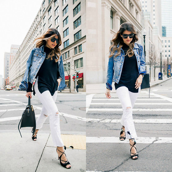 Pam Hetlinger - 7 For All Mankind White Jeans - Denim Jacket and White Jeans