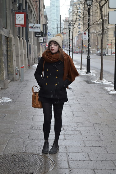 Dylan Leah - Zara Beanie, J Crew Peacoat, Blundstone Boots - End of Winter
