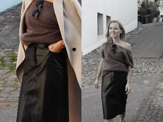 Anna Borisovna - Luisa Cerano Sweater, Vintage Leather Skirt, Asos Shades - Fridays in April