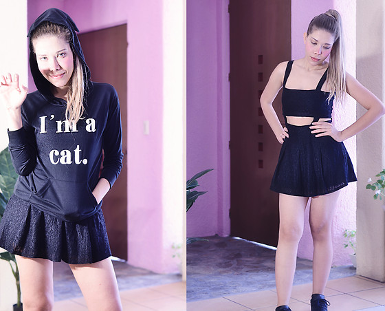 She is Magique Oh my Dior - Gear Best Im A Cat Sweatshirt, Romwe Dress - I'm a cat