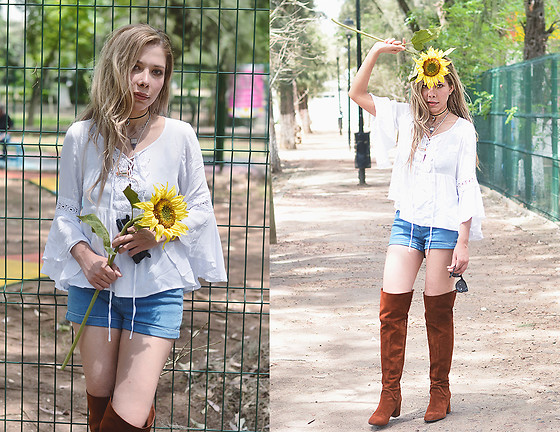 She is Magique Oh my Dior - Forever 2 Top, Forever 21 Shorts, Zara Boots - Pensarte y no tenerte