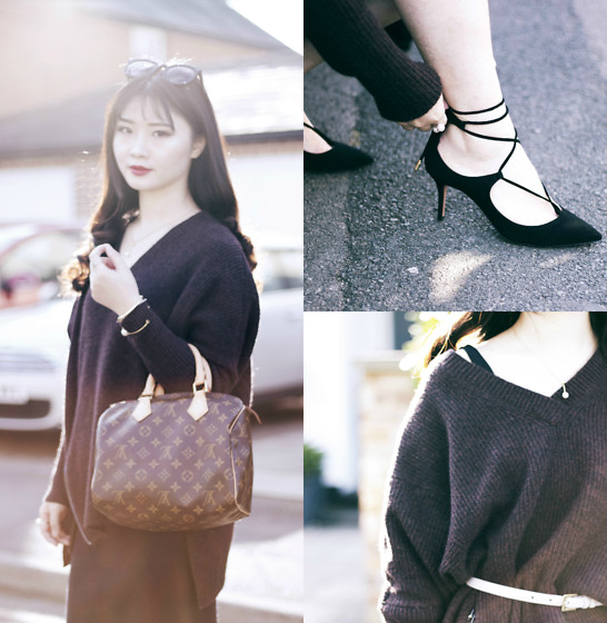Katie - Aquazzura Shoes, Allsaints Knitwear, Louis Vuitton Bag - Ins: Katie_AvecChic