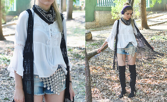 She is Magique Oh my Dior - Forever 21 Top, Asos Belt, Stradivarius Boots, Romwe Vest - You got the music in you