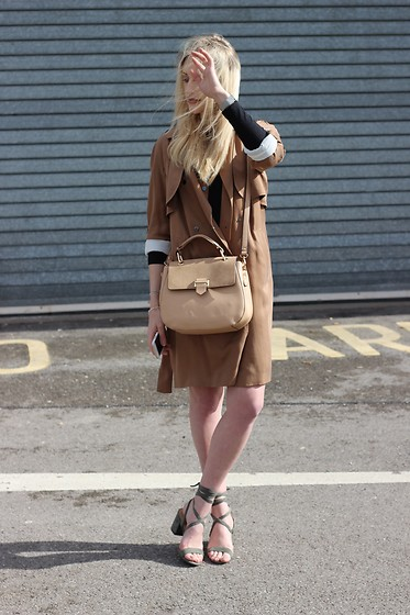 Charlotte Buttrick Lewis - Next Camel Trench Coat, Public Desire Julia Heels, Accessorize 70s Saddle Bag - Stepping Into Spring in Camel Tones