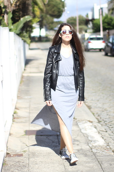 Maria Almeida - Cndirect Dress, Style Moi Jacket - Grey Dress
