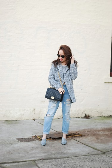 Eliza Tanudjaja - Chanel Boy, Topshop Ripped Bf Jeans, Miu Sunglasses - A Need for Tweed